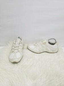 NIKE CHEER FLASH ALL WHITE LEATHER WOMEN'S CHEER SHOES 366194-101 SIZE 8