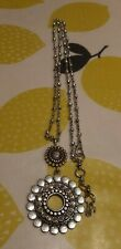Stunning Lucky Brand Flower Design Long Necklace with chunky chain 45cm drop VGC
