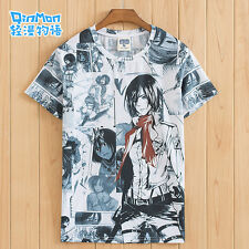 # Anime 進撃の巨人 Attack on Titan Otaku Unisex Short Sleeve Pullover T-shirt Tops