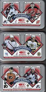1997/98 DONRUSS PREFERRED COMPLETE DOUBLE WIDE TIN SET OF 12 EMPTY TINS