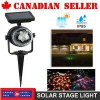 Solar Colorful Rotating LED Projection Light Garden Lamp Outdoor Lawn Landscape