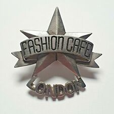 More details for pewter metal fashion cafe lonon england pin badge - very rare - closed down 1999