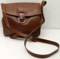 FOSSIL Rare & Vintage Brown Leather Messenger Crossbody Bag Purse