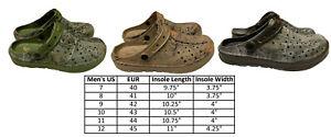 Mens Clogs Slipper Nursing Garden Beach Sandals Camouflage Pool Shoes 7-12