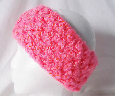 Crochet Headband Earmuff Warm & Cozy-Fall Hot Pink-Handmade Pizazz Creations