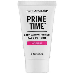 BareMinerals Prime Time Original Foundation Primer 15ml Travel Size BRAND NEW