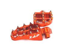 Zap predellini PEDANE FOOT PEGS e-PEGS KTM SX EXC 125 250 450 98-15 - Arancione
