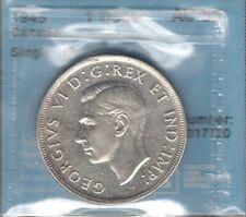 1945 Silver Dollar CCCS AU-55 * RARE Date LOW Mintage KEY George VI Canada $1.00