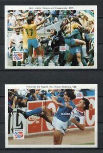 s7060) UGANDA 1994 MNH** World Cup Football'94 - Coppa del Mondo Calcio S/S x2