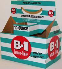 Vintage soda pop bottle carton B 1 LEMON LIME unused new old stock n-mint+ cond