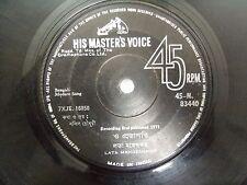 MODERN SONGS LATA MANGESHKAR BENGALI rare EP RECORD 45 vinyl INDIA 1971 VG+