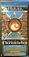 2019-20 Panini Chronicles basketball fat pack cello Zion Ja Luka prizm mosaic