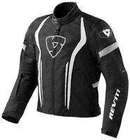 GIACCA MOTO JACKET REV'IT REVIT RACEWAY NERA BIANCO BLACK WHITE TG M