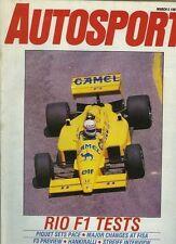 Autosport March 5th 1987 * British F3 Aperçu et MIAMI IMSA & Philippe Streiff - *