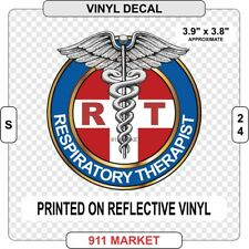 RT Reflective Decal Respiratory Therapist Car Sticker Caduceus Therapy Gift S 24