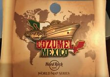HARD ROCK CAFE COZUMEL MEXICO WORLD MAP SERIES PIN CRUISE SHIP FLAG