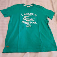Lacoste Original Paris Print T Shirt - Green - Medium Large Extra Large - M L XL
