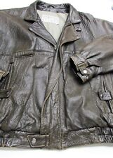 ** ROBERT COMSTOCK Expedition LAMBSKIN LEATHER Motorcycle Bomber JACKET Mens 42