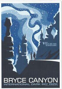 Bryce Canyon National Park Utah Poster Art Postcard