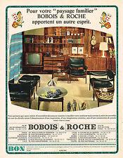 """PUBLICITE ADVERTISING 084  1963  BOBOIS & ROCHE  meubles """" PAYSAGE FAMILIER"""""""