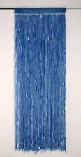 Eleganter Fadenvorhang Türvorhang Wuschel blau Vorhang