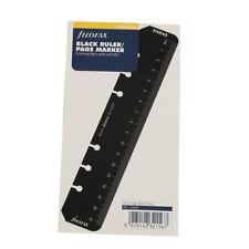 Students Filofax Book Personal Organiser Ruler Page Marker Black Insert Refill