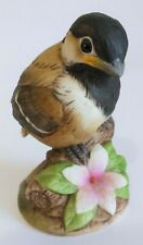 Andrea by Sadek Chickadee Bird Hand Painted Bisque Figurine 6350 Made in Japan