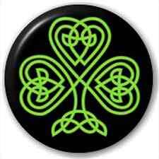 Celtic Shamrock 25Mm Pin Button Badge Lapel Pin