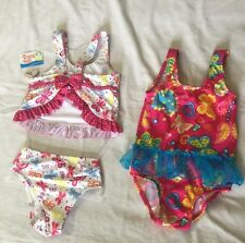 FISHER PRICE & TS INFANT BABY BATHING SUIT Pink Butterfly 18 MONTHS , 2 Set