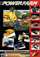 BRITAINS TOYS POWERFARM SHOP DISPLAY POSTER 1980's Tractor Poster Brochure A3