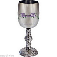 STAINLESS STEEL BLESSED BE CHALICE 171 mm Wicca Pagan Witch Goth Goddess