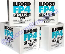 4 x ILFORD FP4 125 35mm 24exp CHEAP BLACK & WHITE CAMERA FILM - 1st CLASS POST