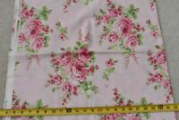 By 1/2 Yd, Large Pink Roses on Light-Pink Quilt Cotton, FreeSpirit/Whelan, P3867