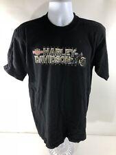 Mountain Creek Harley Davidson Men's Black Graphic T-Shirt Dalton, GA LARGE