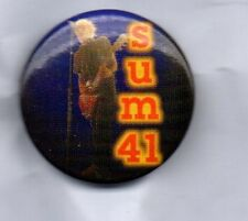 SUM 41 BUTTON BADGE Canadian Rock Band - All Killer No Filler - In Too Deep 25mm