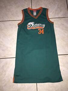 Reebok Womens Miami Dolphins Basketball Style Jersey Sz L- R. Williams