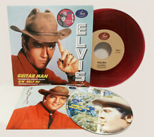 Elvis Collectors GUITAR MAN / HELP ME Jarvis Records 45 RPM + CD (purple)