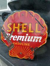 1930's ORIGINAL SHELL GASOLINE PORCELAIN SIGN ...no reserve