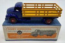 Dinky Superoys No. 531 Leyland Comet Lorry w/ Original Box - Blue w/ Red Wheels