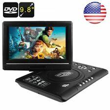 "9.8"" Lcd Portable Dvd Player 270° Swivel Screen Tv Game Usb Sd Card Reader"
