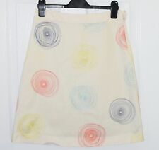 BODEN A-line swirls embroidery ivory skirt women 4 4R UK 8R
