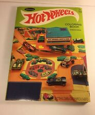 RARE WHITMAN 1969 MATTEL HOT WHEELS COLORING ACTIVITY BOOK REDLINE Never Colored