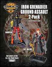 GI Joe Convention Darklon & Sgt Major 2012 VARIANT- IG Ground Assault JoeCon MIB