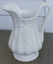 "Red Cliff GRAPE 32 Ounce Pitcher Ironstone 7 1/2"" Tall"