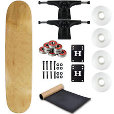 "Moose Complete Skateboard Natural 7.75"" With Black Trucks and White Wheels"