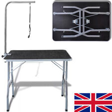 Dog Pet Cat Grooming Beauty Table Hydraulic Adjustable Folding Bath Table UK