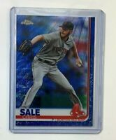 Chris Sale 2019 Topps Chrome Blue Wave Refractor SSP Serial #d 75 Boston Red Sox