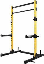 Multi-Function Adjustable Power Rack Exercise Squat Stand with J-Hooks FAST SHIP