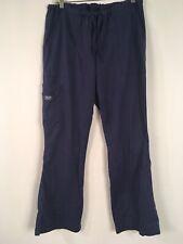 Cherokee Workwear Medium Scrub Pants Blue Stretch Waist Drawstring