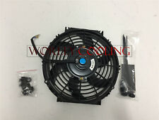 10'' 12V 10 inch 12 V Thermo Radiator Cooling Fan & Mounting Kits CURVED BLADE